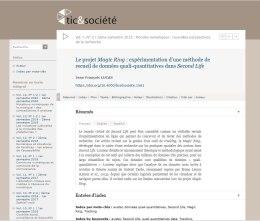 Tic et societes-publication